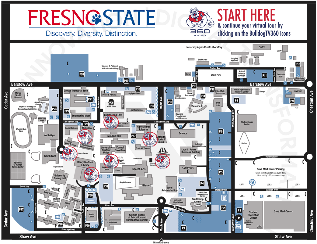 Fresno State VR360 Campus Map